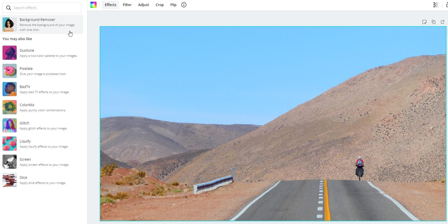 Schermafdruk achtergrond verwijderen in Canva
