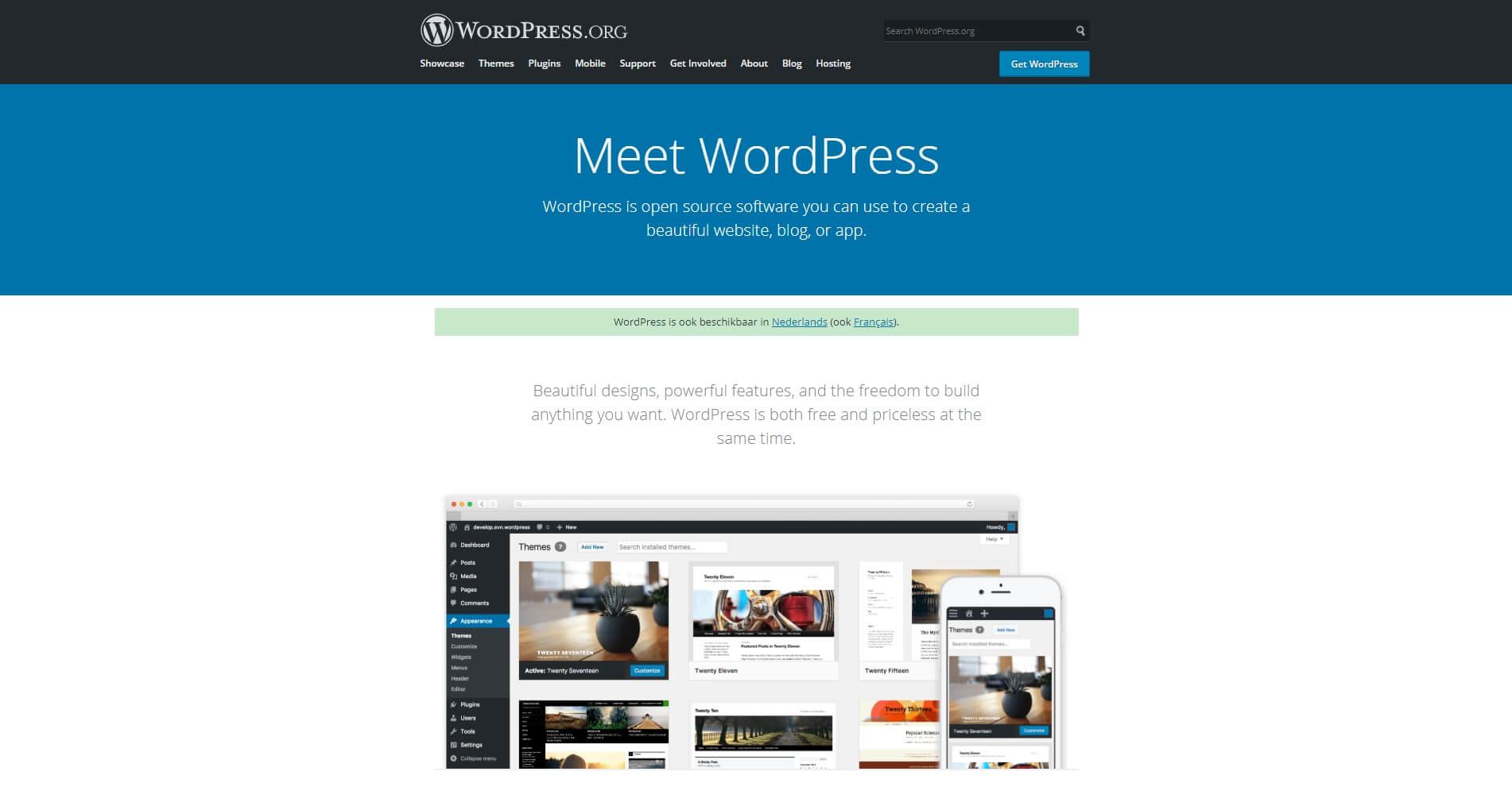 Homepage WordPress website met 10 verrassende feiten over WordPress in 2019