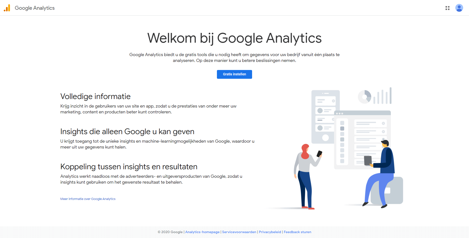 Welkom bij Google Analytics