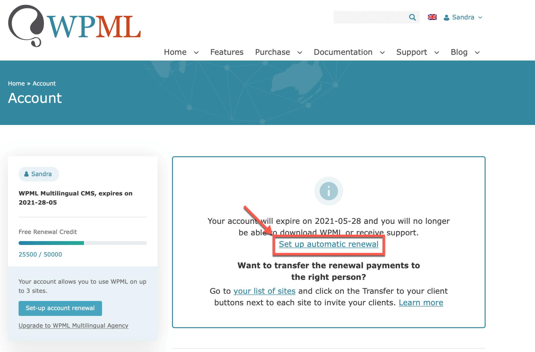 WPML prijsverhoging vermijden door automatisch vernieuwen in te stellen